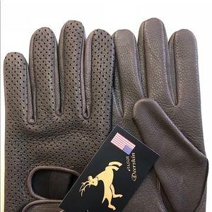 Deerskin motorcycle gloves, used for sale